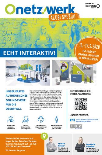Digitale Ausbildungsmesse Onetzwerk Azubi Spezial